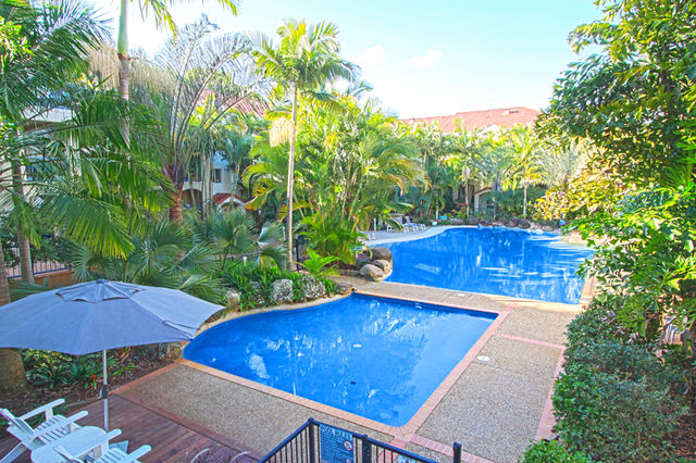 Tropical landscaped pools