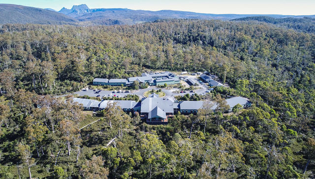 Cradle Mountain Hotel - Aerial view